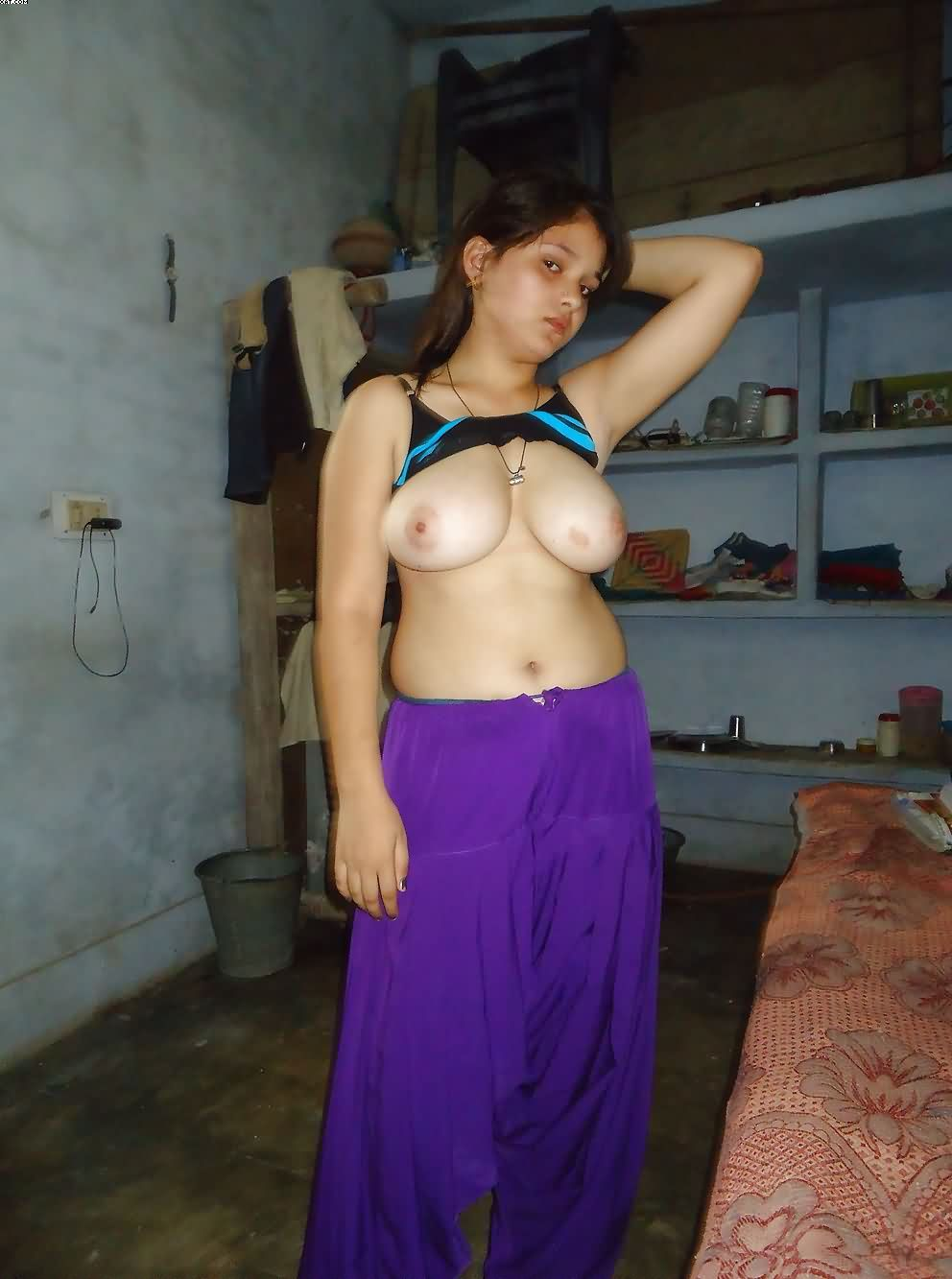 Beautiful Indian College Girl Stripping Showing -7444