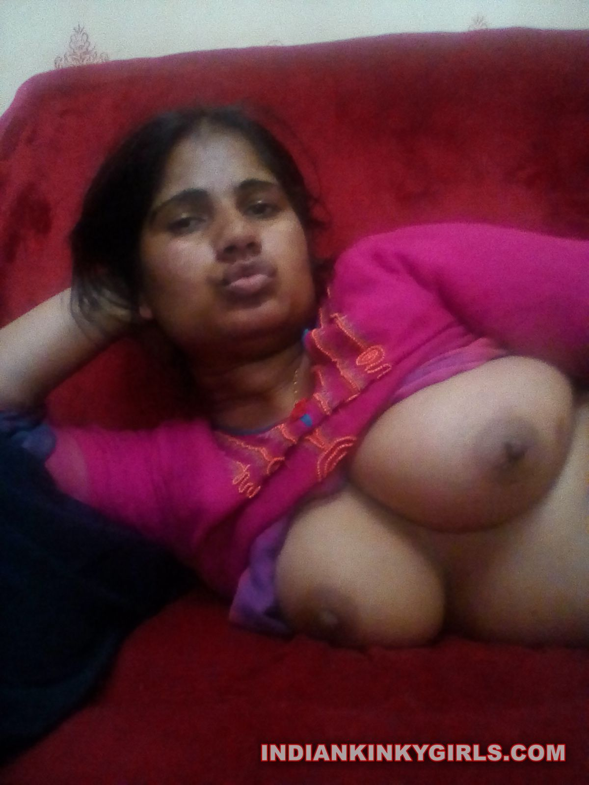image Indian wife teases on cam when husband is out