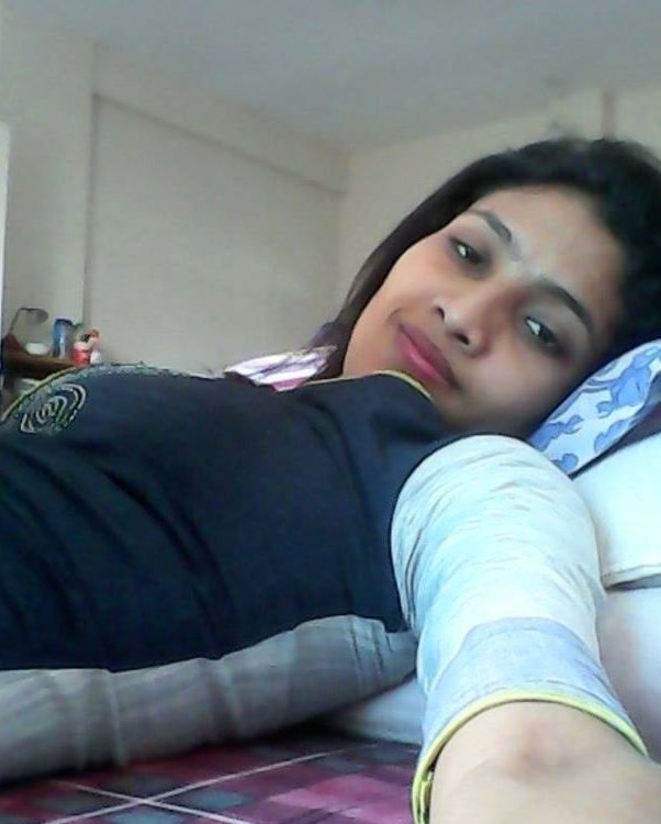 naughty hot babe taking sexy selfies in hostel