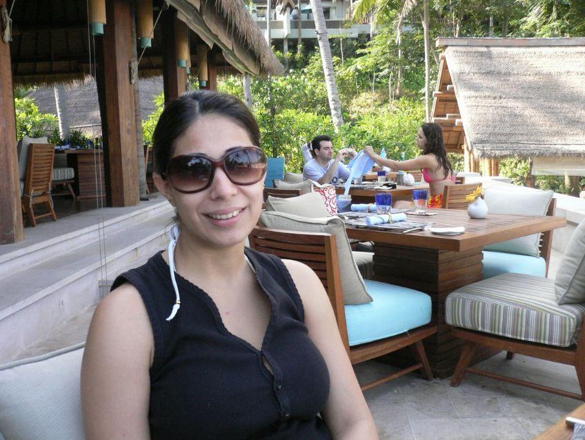 working wife enjoying nude sunbathing during business trip 001