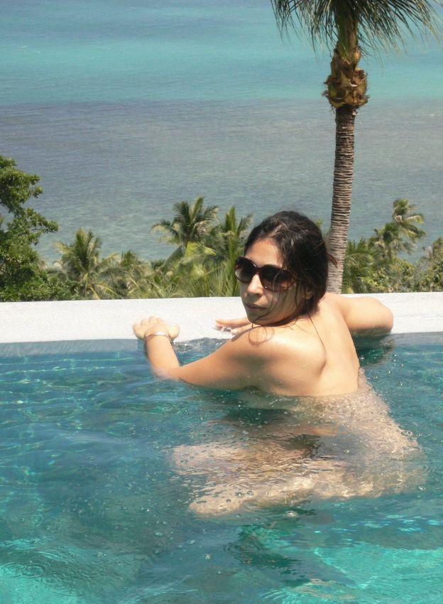 working wife enjoying nude sunbathing during business trip 002