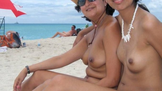 naked desi babes on beach