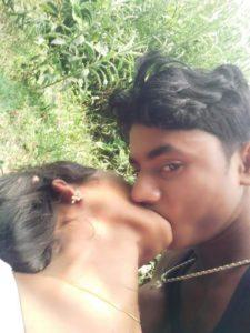 village girl kissing and boobs pressing selfies 004