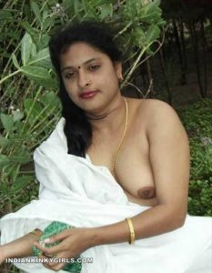 beautiful indian wife outdoor naked stripping 009