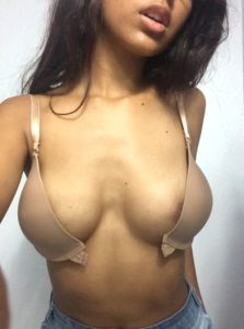 college girl unhook bra to reveal beautiful boobs 001