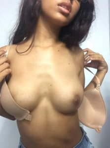 college girl unhook bra to reveal beautiful boobs 002