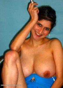 huge boobies indian aunty naked smoking cigarette 004