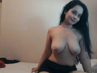 lovely sindhi girlfriend with amazing boobs nude 004